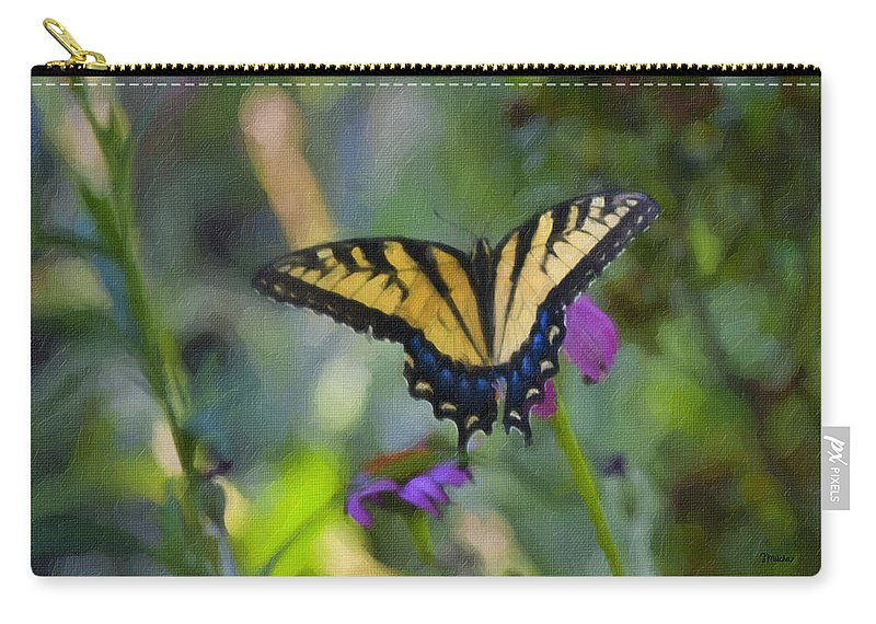 Tiger Carry-all Pouch featuring the painting Tiger Swallowtail Painting by Teresa Mucha