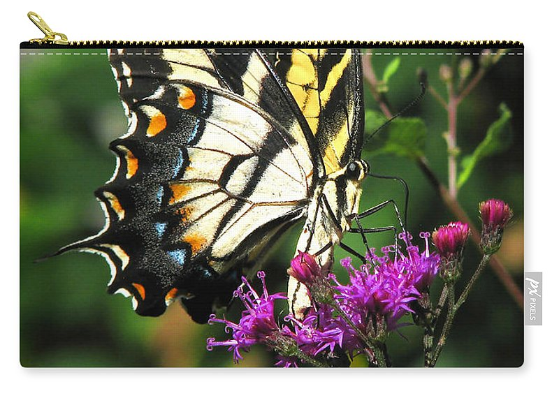 Nature Carry-all Pouch featuring the photograph Tiger Swallowtail by Peg Urban