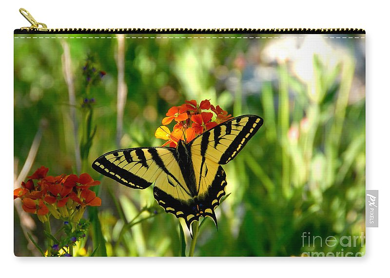 Tiger Tail Butterfly Carry-all Pouch featuring the photograph Tiger Tail Beauty by David Lee Thompson