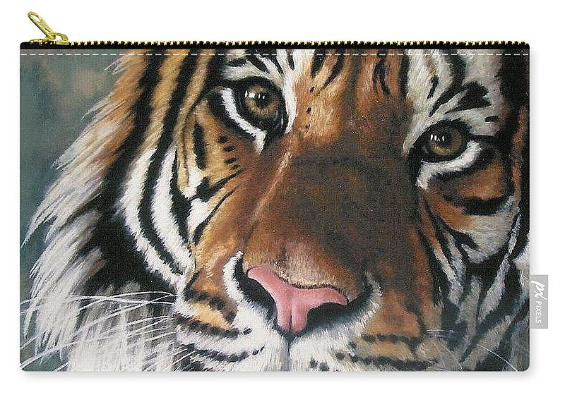 Tiger Carry-all Pouch featuring the pastel Tigger by Barbara Keith