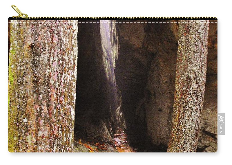 Rock City Carry-all Pouch featuring the photograph Tight Spaces by Lori Mahaffey