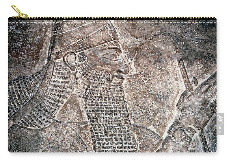 8th Century B.c. Carry-all Pouch featuring the photograph Tiglath Pileser IIi by Granger