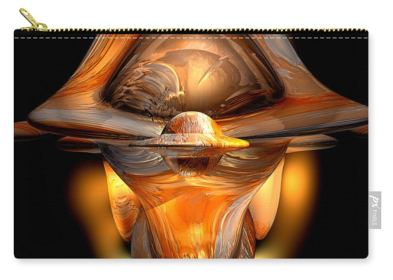 3d Carry-all Pouch featuring the digital art Tiki Abstract by Alexander Butler