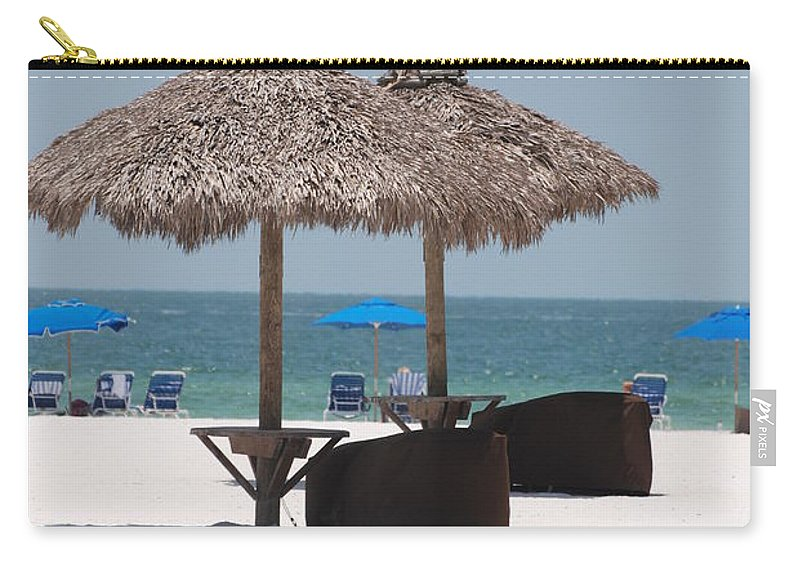 Tiki Hut Carry-all Pouch featuring the photograph Tiki On The Gulf by Rob Hans
