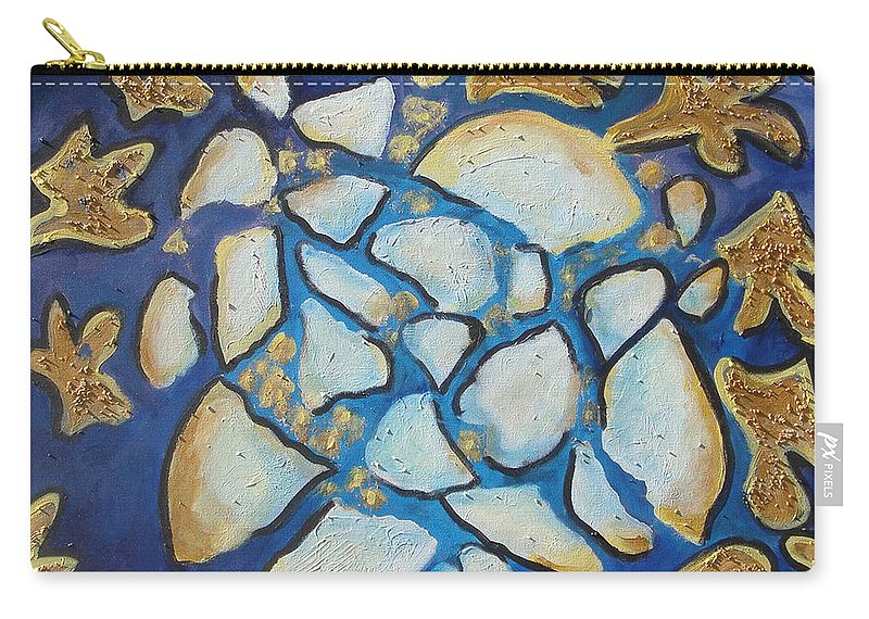 Abstract Carry-all Pouch featuring the painting Tikkun Olam Heal The World by Laurie Morgan