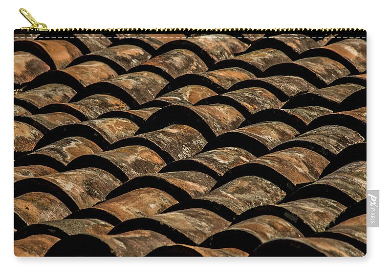 Tile Roof Carry-all Pouch featuring the photograph Tile Roof 3 by Totto Ponce