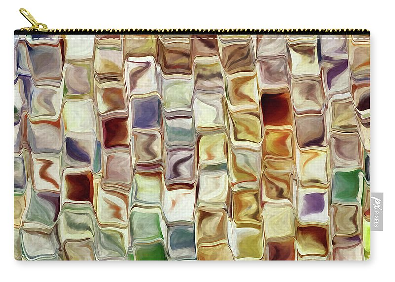 Abstract Carry-all Pouch featuring the painting Tiled Abstract by Grigorios Moraitis