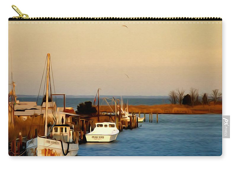 Tilghman Island Maryland Carry-all Pouch featuring the photograph Tilghman Island Maryland by Bill Cannon