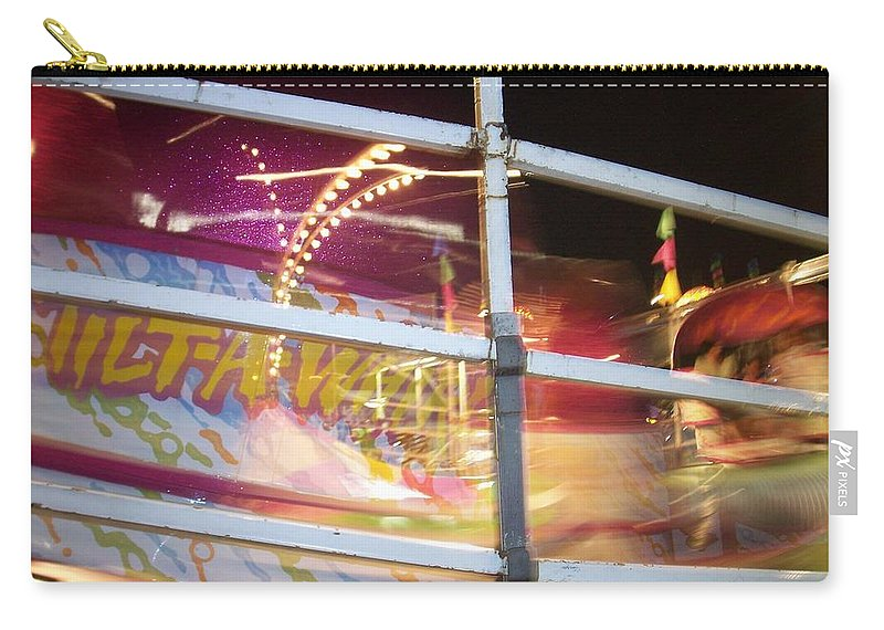 State Fair Carry-all Pouch featuring the photograph Tilt-a-whirl 1 by Anita Burgermeister