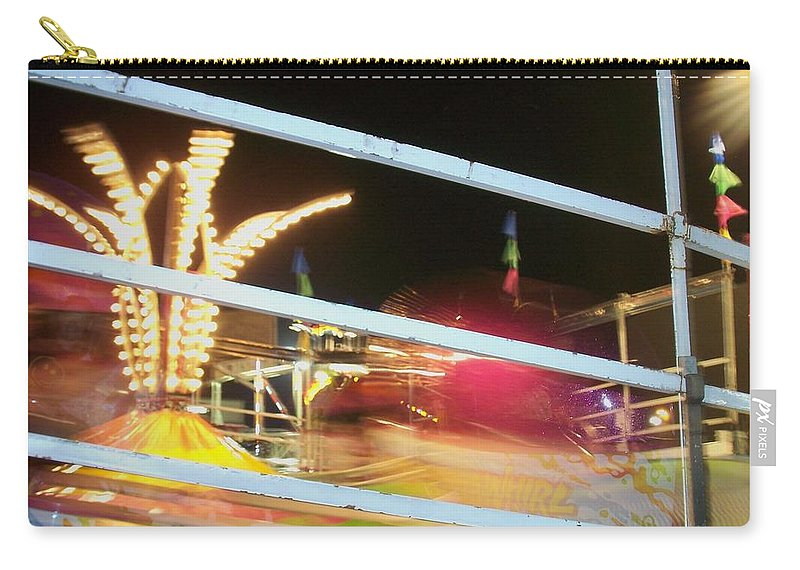 State Fair Carry-all Pouch featuring the photograph Tilt-a-whirl 2 by Anita Burgermeister