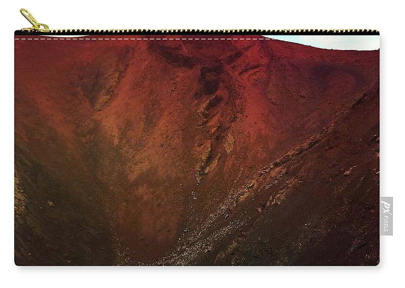 Timanfaya Carry-all Pouch featuring the photograph Timanfaya by Mark Taylor