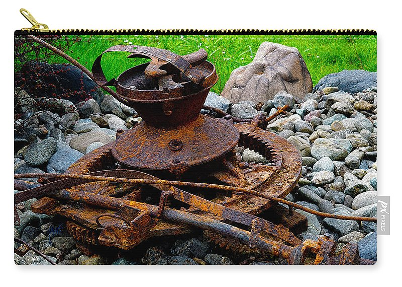 Rust Carry-all Pouch featuring the photograph Timber Gears Built The West by Michele Avanti