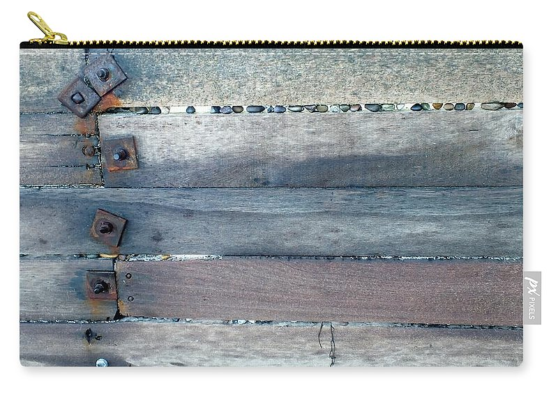 Weathered Carry-all Pouch featuring the photograph Time On The Beach 1 by Emma Manners