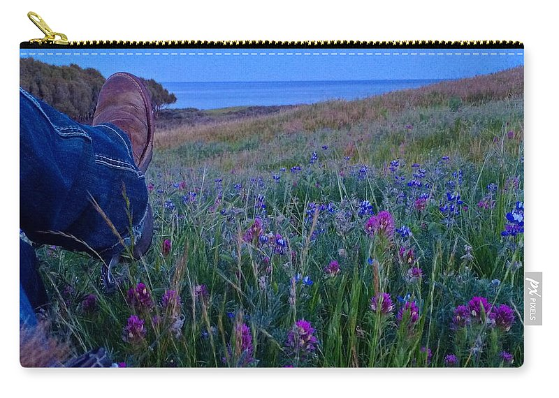 Owls Clover Carry-all Pouch featuring the photograph Time Out by JoJo Brown
