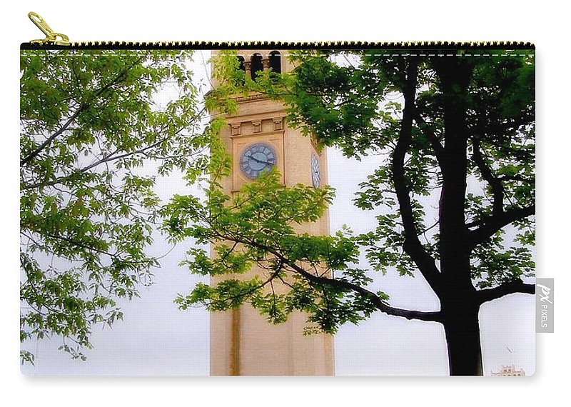 Clock Carry-all Pouch featuring the photograph Time by Susan Kinney