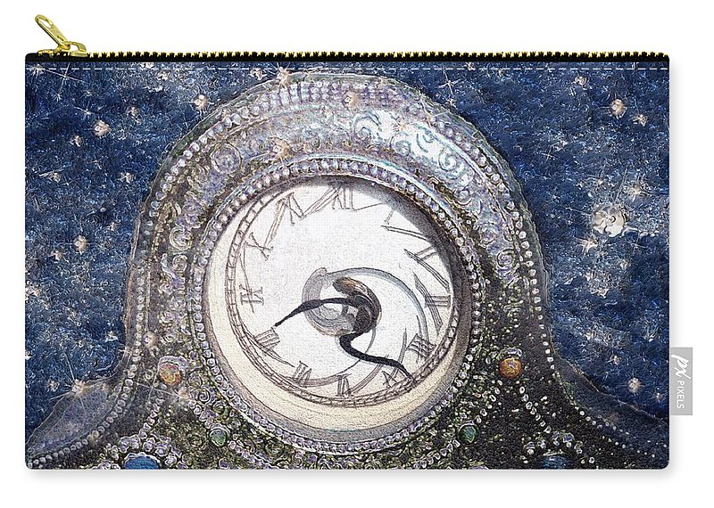 Clock Carry-all Pouch featuring the painting Time Warp by RC DeWinter