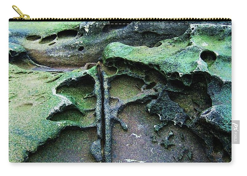 Photograph Rock Beach Ocean Carry-all Pouch featuring the photograph Time Washed Out by Seon-Jeong Kim