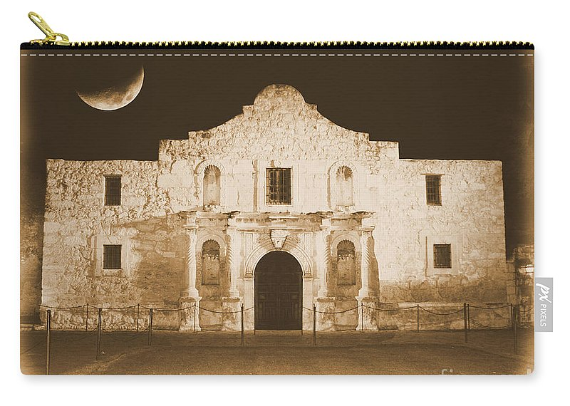 The Alamo Carry-all Pouch featuring the photograph Timeless Alamo by Carol Groenen
