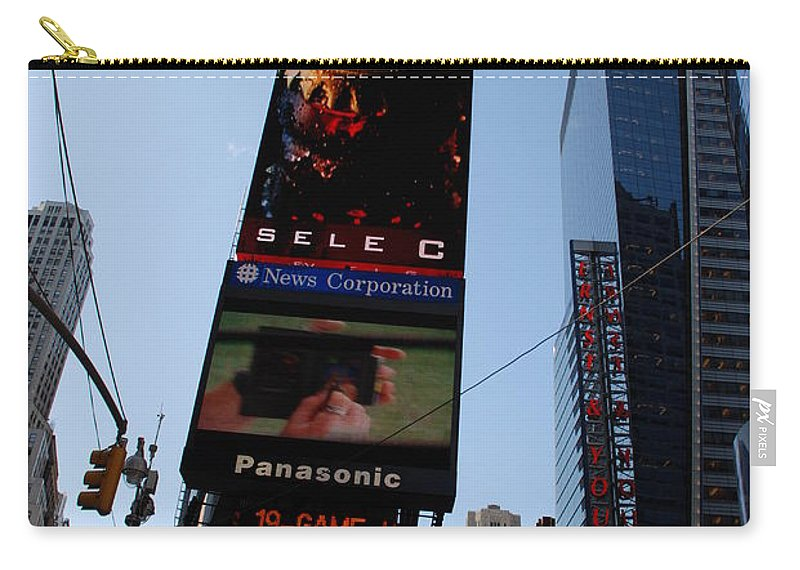 Times Square Carry-all Pouch featuring the photograph Times Square by Rob Hans