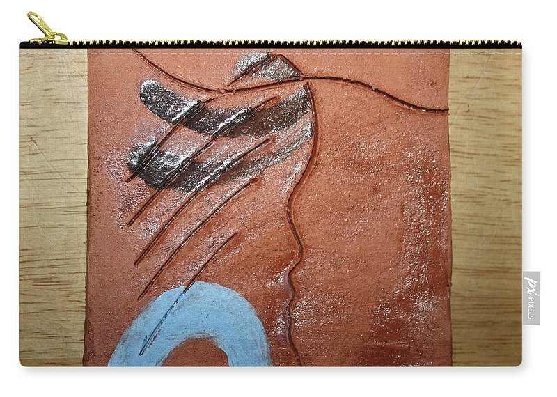 Jesus Carry-all Pouch featuring the ceramic art Timid - Tile by Gloria Ssali
