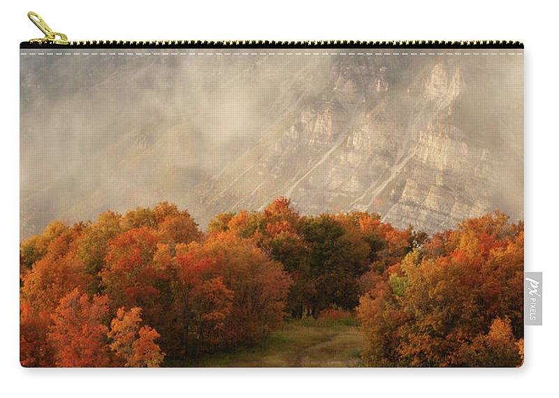 Timpanogos Carry-all Pouch featuring the photograph Timpanogos Veiled by Dustin LeFevre