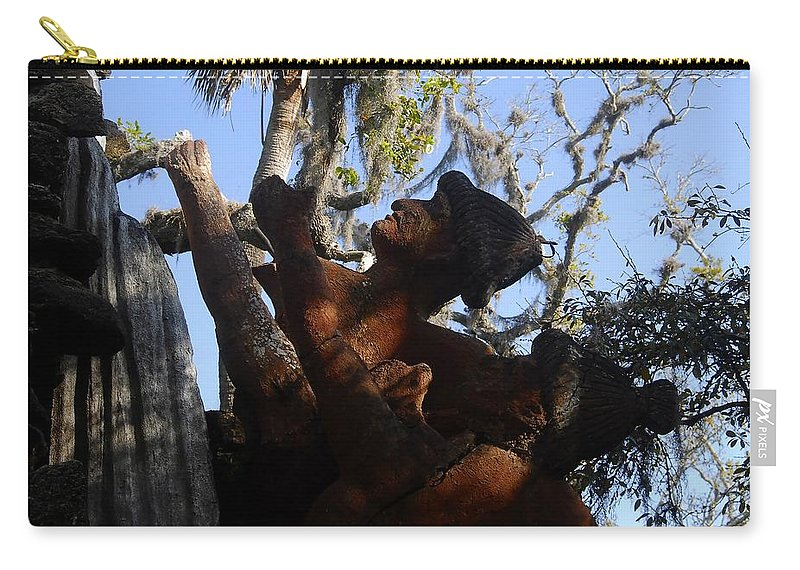 Timucuan Indains Carry-all Pouch featuring the photograph Timucuan Warriors by David Lee Thompson