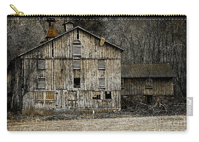 Architecture Carry-all Pouch featuring the photograph Tin Cup Chalice Rustic Barn by John Stephens