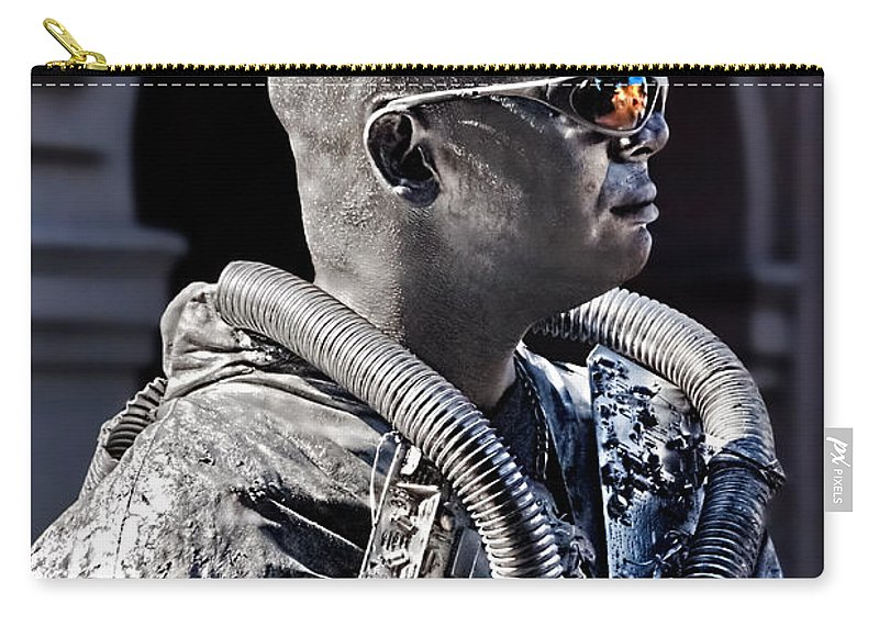 Man Carry-all Pouch featuring the photograph Tin Man by Christopher Holmes
