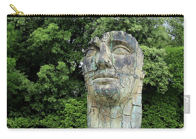 Italy Carry-all Pouch featuring the photograph Tindaro Screpolato Sculpture In Boboli Garden 0197 by Jack Schultz
