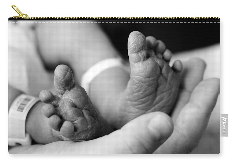Feet Carry-all Pouch featuring the photograph Tiny Feet by Sebastian Musial