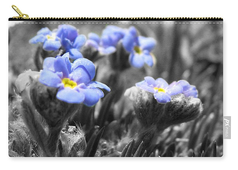 Flowers Carry-all Pouch featuring the photograph Tiny Gems by Amanda Barcon