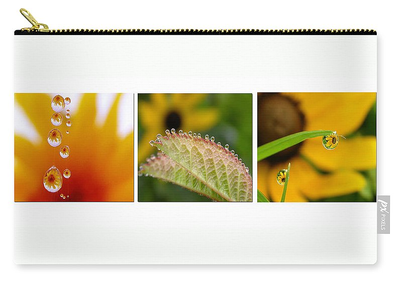 Dew Carry-all Pouch featuring the photograph Tiny Miracles by Linda Murphy