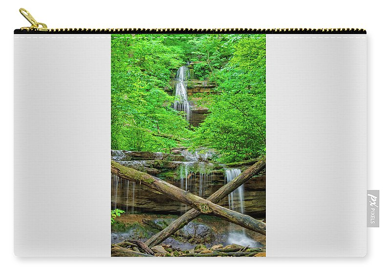 Tioga Falls Carry-all Pouch featuring the photograph Tioga Falls near Louisville KY by Ina Kratzsch