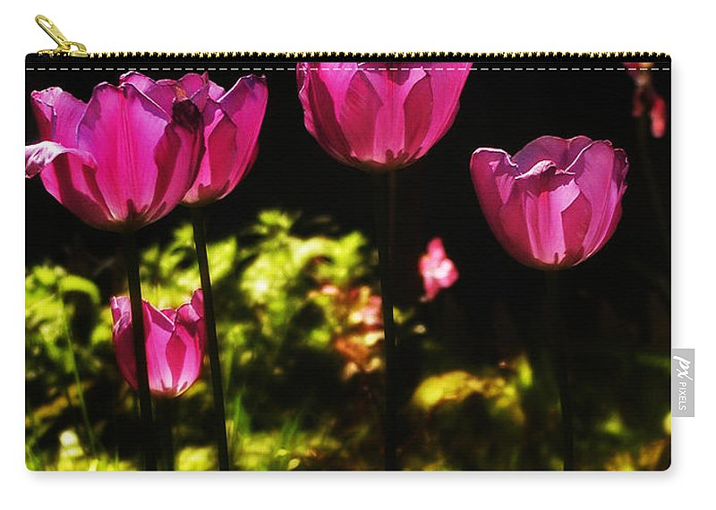 Tulips Carry-all Pouch featuring the photograph Tiptoe Through The Tulips by Bill Cannon