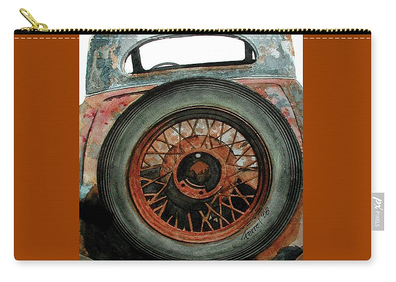 Car Carry-all Pouch featuring the painting TireD by Ferrel Cordle