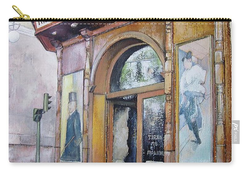 Tirso Carry-all Pouch featuring the painting Tirso De Molina Old Tavern by Tomas Castano