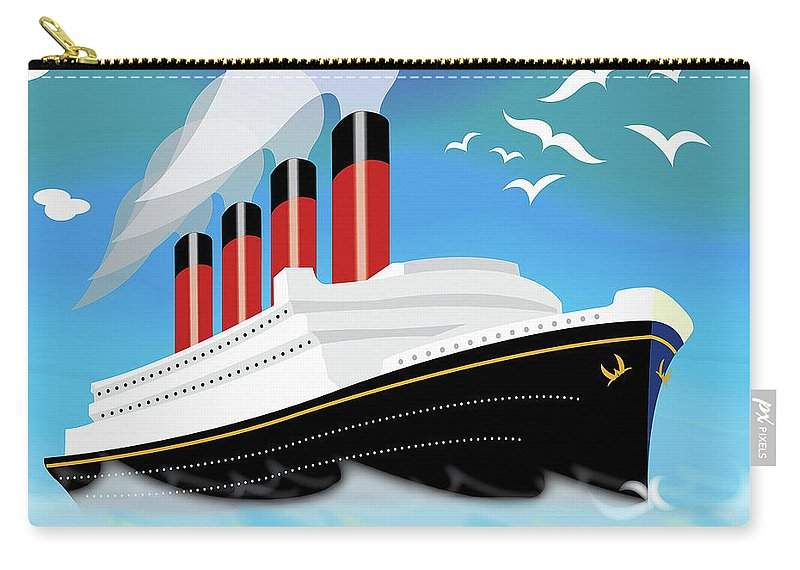 Ship Carry-all Pouch featuring the painting Titanic by Neil Finnemore