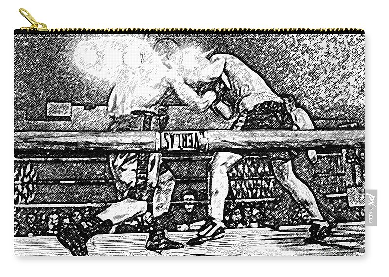 Boxing Carry-all Pouch featuring the photograph Titans of the Ring by David Lee Thompson