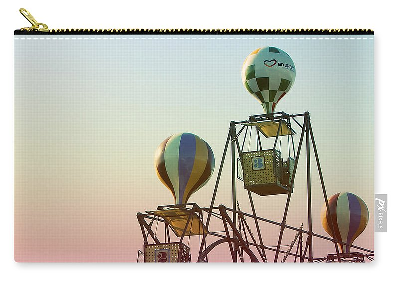 Copenhagen Carry-all Pouch featuring the photograph Tivoli Balloon Ride by Linda Woods