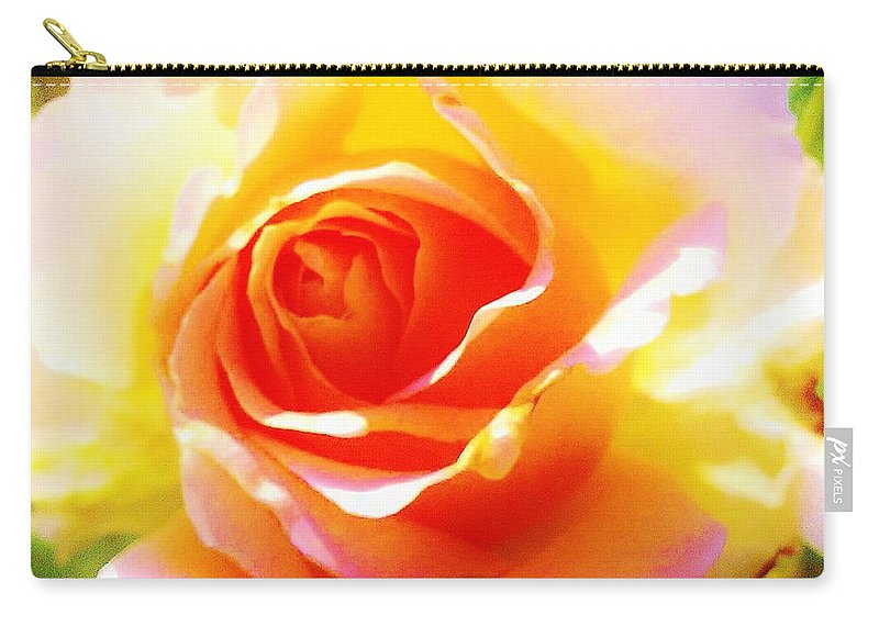 Carry-all Pouch featuring the photograph Tjs Rose A Glow by Daniel Thompson