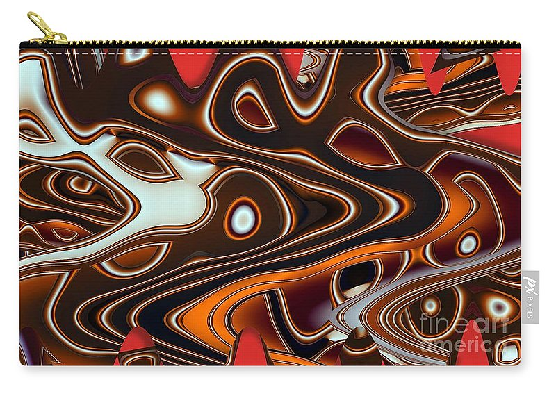 Abstract Carry-all Pouch featuring the digital art Tlinget Homage 2 by Ron Bissett