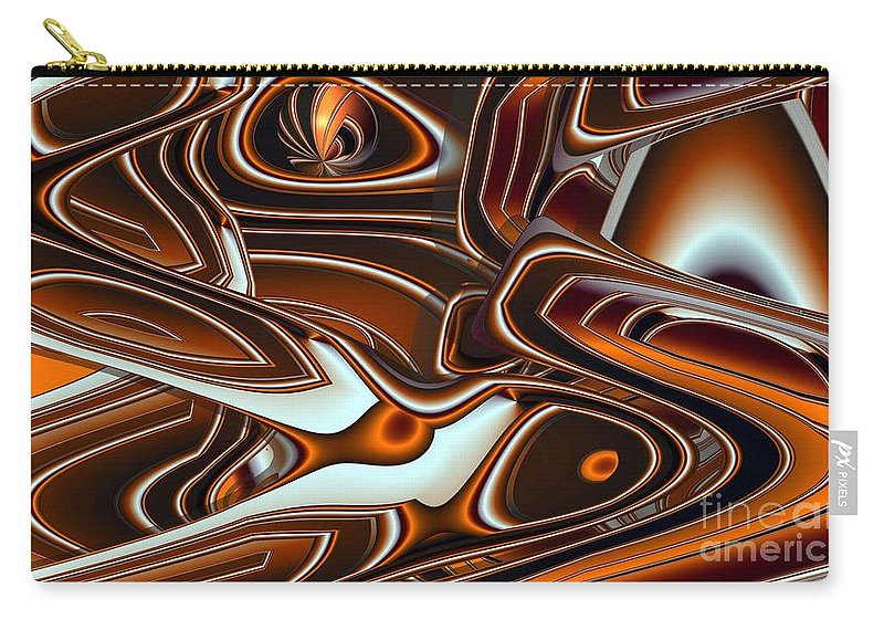 Abstract Carry-all Pouch featuring the digital art Tlinget Homage by Ron Bissett