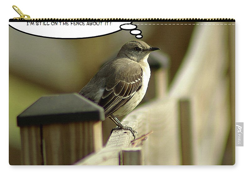 2d Carry-all Pouch featuring the photograph To Fly Or Not To Fly by Brian Wallace