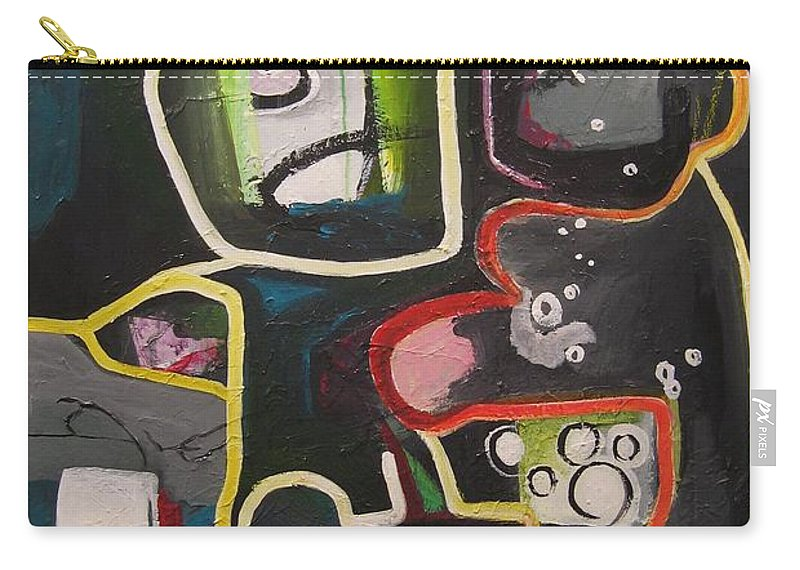 Couple Paintings Carry-all Pouch featuring the painting To Get Along by Seon-Jeong Kim