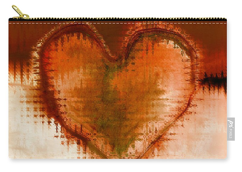 Love Art Carry-all Pouch featuring the digital art To Heart by Linda Sannuti