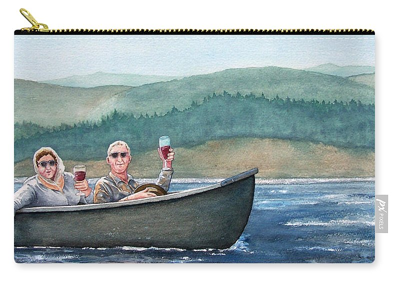 Canoe Carry-all Pouch featuring the painting To Life by Gale Cochran-Smith
