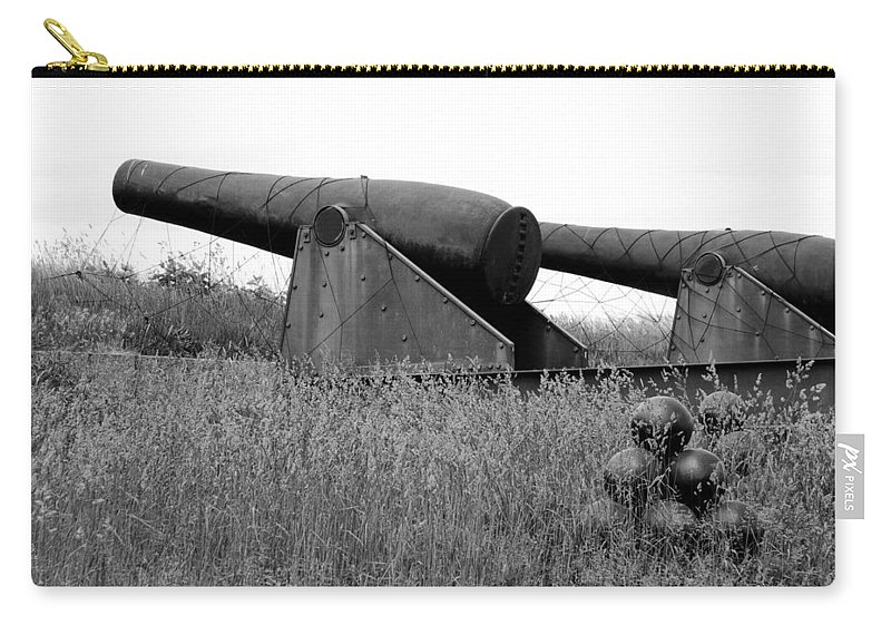 Cannon Carry-all Pouch featuring the photograph To Protect And Serve by Greg Fortier