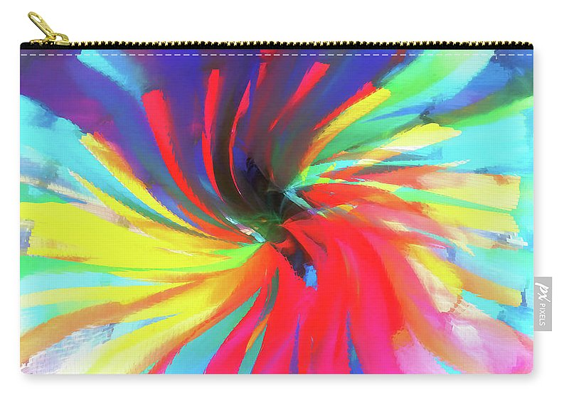 Colors Carry-all Pouch featuring the digital art To Spring Up by Nicci Frescamente