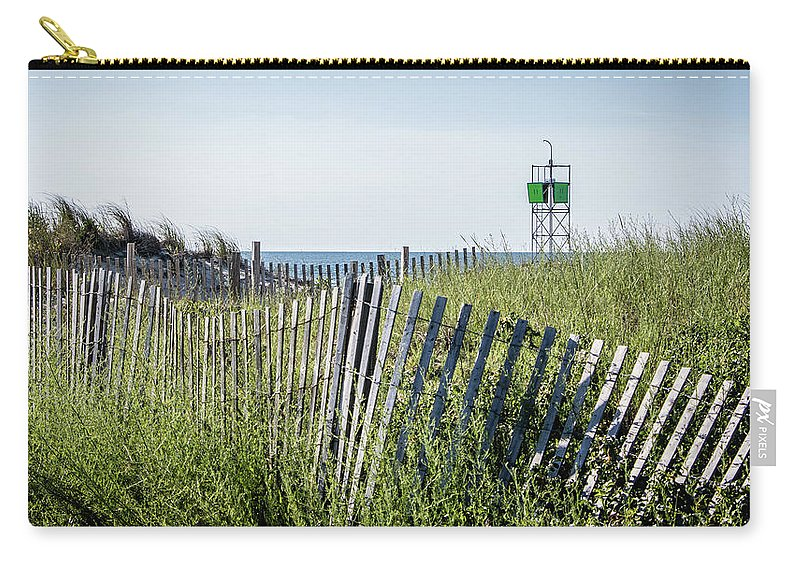Fence Carry-all Pouch featuring the photograph To The Beach by Robert Anastasi