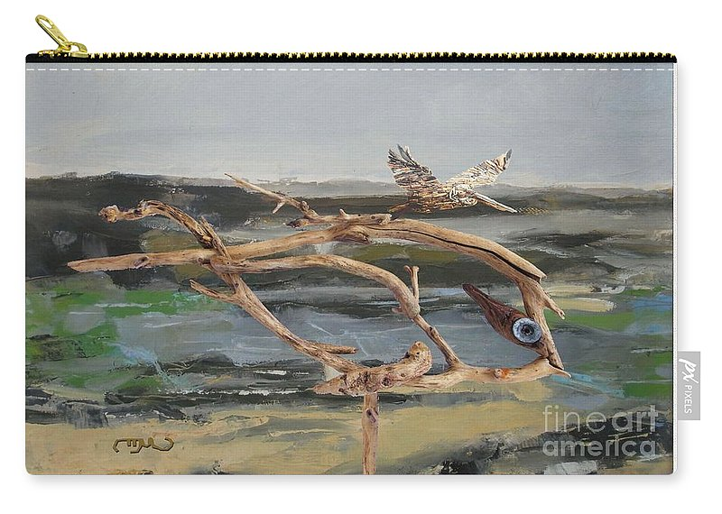 Modern Painting Carry-all Pouch featuring the mixed media To The Impossible Dream by Pemaro